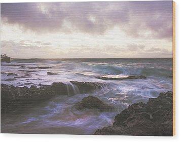 Morning Waves Wood Print by Brian Harig