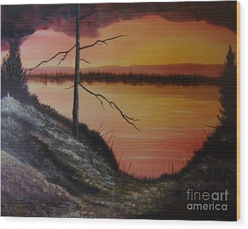Wood Print featuring the painting Morning Yes by Stuart Engel