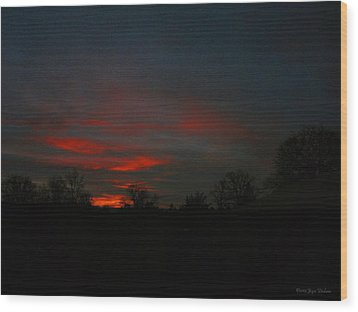 Mornings Early Light 012913 Wood Print by Joyce Dickens