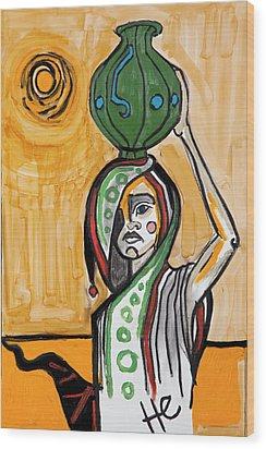 Moroccan Road 36x24  Wood Print