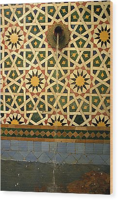 Moroccan Water Fountain Wood Print by Ralph A  Ledergerber-Photography