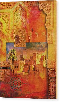 Morocco Heritage Poster 00 Wood Print by Catf