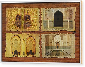 Morocco Heritage Poster 01 Wood Print by Catf