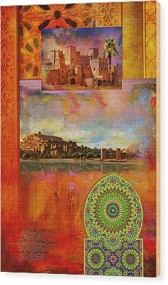 Morocco Heritage Poster Wood Print by Catf