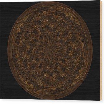 Morphed Art Globe 32 Wood Print by Rhonda Barrett