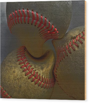 Morphing Baseballs Wood Print by Bill Owen