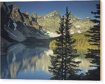 Morraine Lake II Wood Print