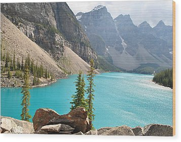 Morraine Lake Wood Print