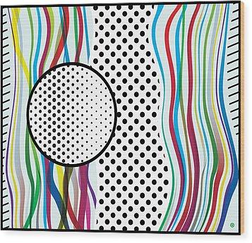 Morris Like Pop Art Wood Print