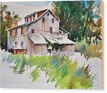 Morrison Mill Burnt Prairie Illinois Wood Print by Spencer Meagher