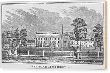 Morristown, 1844 Wood Print by Granger