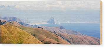 Morro Bay Rock Vista Overlooking Highway 46 Paso Robles California Wood Print by Artist and Photographer Laura Wrede