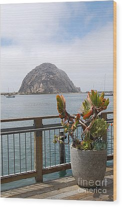 Wood Print featuring the photograph Morro Rock At Morro Bay by Debra Thompson