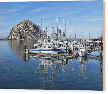 Wood Print featuring the photograph Morro Rock by Kathy Churchman