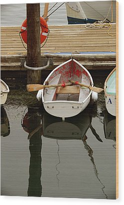 Morrow Bay Skiff Wood Print