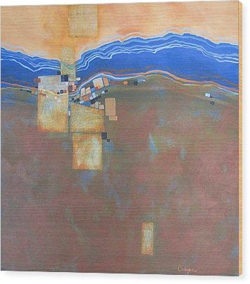 Mosaic 20 Wood Print by Carlynne Hershberger