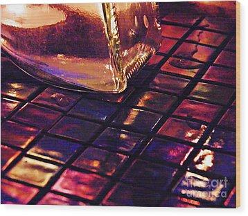 Mosaic 9 Wood Print by Sarah Loft