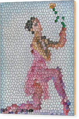 Mosaic Ballerina Wood Print by Nina Bradica