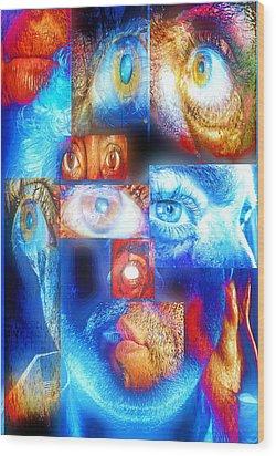Mosaic Wood Print by Beto Machado