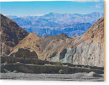 Wood Print featuring the photograph Mosaic Canyon Picnic by Stuart Litoff