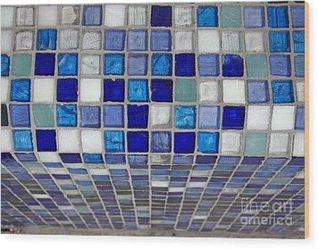 Mosaic Tile Wood Print by Tony Cordoza