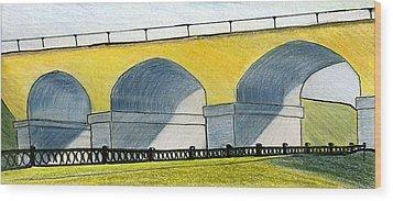 Moscow. Andronikov Viaduct Wood Print by Lelia Sorokina