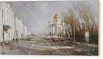 Moscow. Cathedral Of Christ The Savior Wood Print
