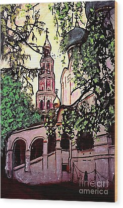 Moscow Church Wood Print by Sarah Loft