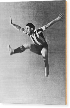 Moscow Opera Ballet Dancer Wood Print by Underwood Archives