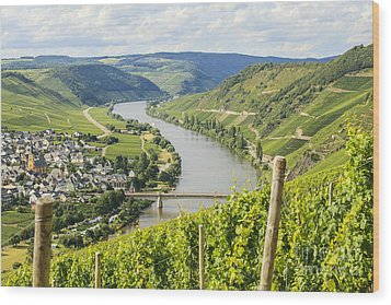 Mosel Area Wood Print