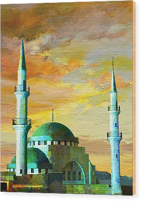 Mosque Jordan Wood Print by Catf
