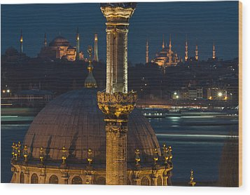Mosques In Istanbul Wood Print by Ayhan Altun