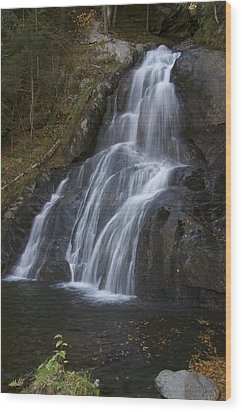Wood Print featuring the photograph Moss Glen Falls #1 by Paul Miller