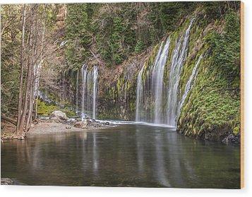 Mossbrae Falls Wood Print by Randy Wood