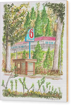 Motel 6 In Mammoth Lakes - California Wood Print by Carlos G Groppa