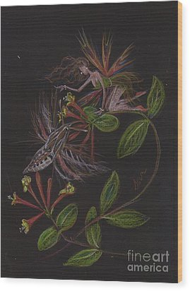 Moth Wing Touch Wood Print