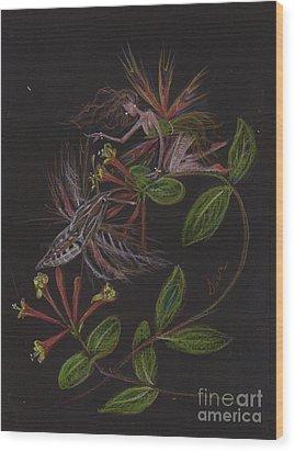 Moth Wing Touch Wood Print by Dawn Fairies