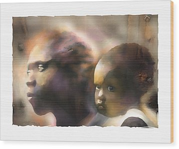 Mother And Child Wood Print by Bob Salo