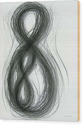 Mother And Child Figure-eight Study Wood Print by Michael Morgan
