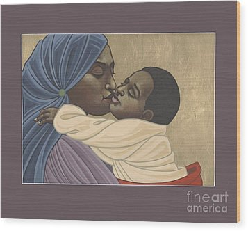 Wood Print featuring the painting Mother And Child Of Kibeho 131 by William Hart McNichols
