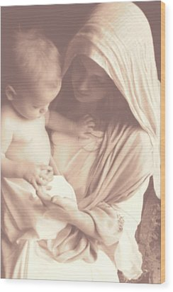 Madonna And Child Wood Print by Vienne Rea