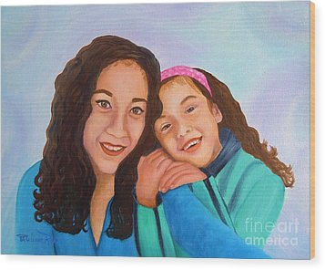 Mother And Daughter Wood Print by Pauline Ross