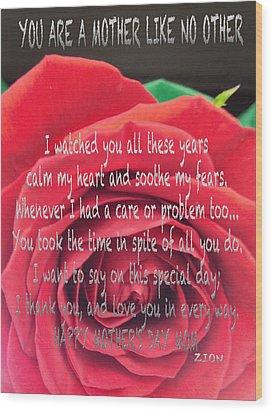 Mother Day Cards Wood Print by Debra     Vatalaro