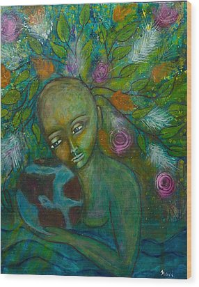 Mother Earth Wood Print by Havi Mandell