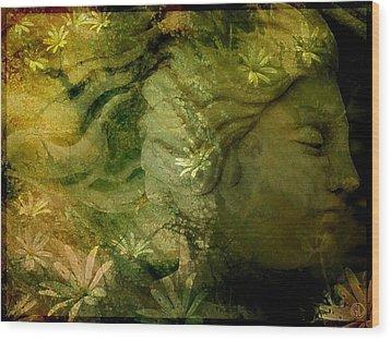 Mother Earth Is Just Awakening Wood Print by Gun Legler