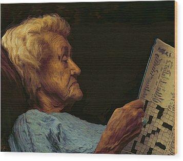 Mother Wood Print by Hazel Billingsley