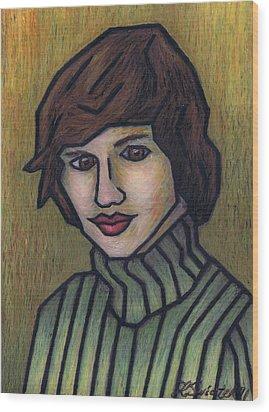 Mother Wood Print by Kamil Swiatek