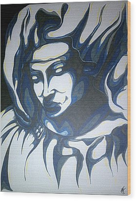 Mother Mary Concept Wood Print by Michael Toth
