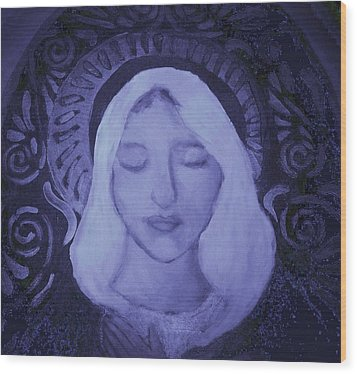 Mother Mary I Wood Print
