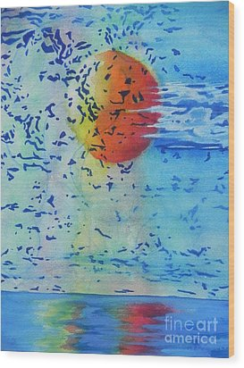 Wood Print featuring the painting Mother Nature At Her Best  by Chrisann Ellis